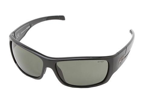 Smith Optics Frontman (Black Frame/Polar Gray Green Carbonic TLT Lenses) Athletic Performance Sport Sunglasses