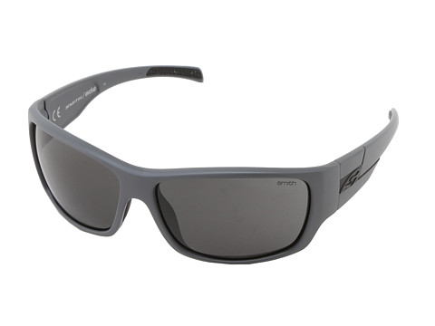 Smith Optics - Frontman (Matte Cement Frame/Blackout Carbonic TLT Lenses) Athletic Performance Sport Sunglasses
