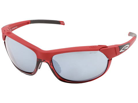 Smith Optics Pivlock Overdrive (Caldera Red Frame/Platinum/Ignitor/Clear Carbonic TLT Lenses) Sport Sunglasses