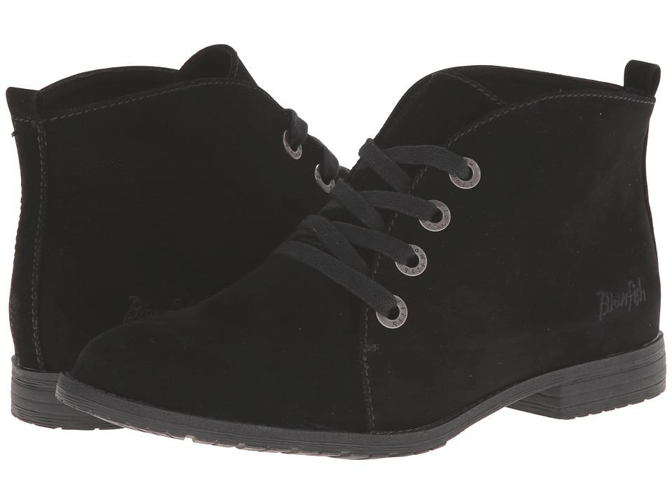 Blowfish - Thorpe (Black Fawn PU) Women's Lace-up Boots