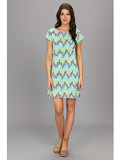 SALE! $34.99 - Save $23 on Hatley Tee Shirt Dress (Turquoise Chevron) Apparel - 39.67% OFF $58.00