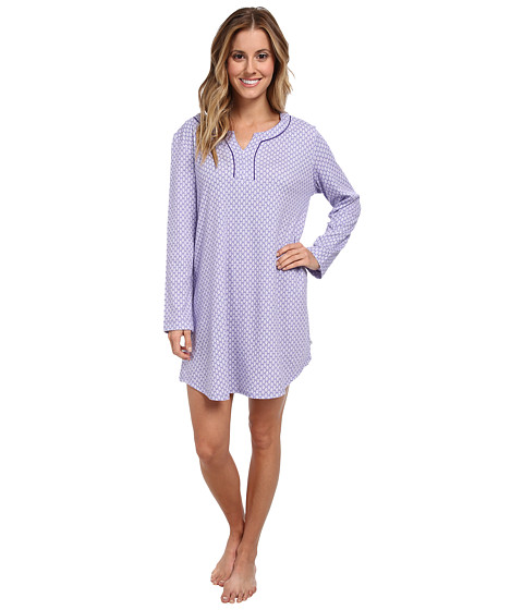 Karen Neuburger - L/S Pullover Nightshirt (Foulard/Aubergine) Women's Pajama