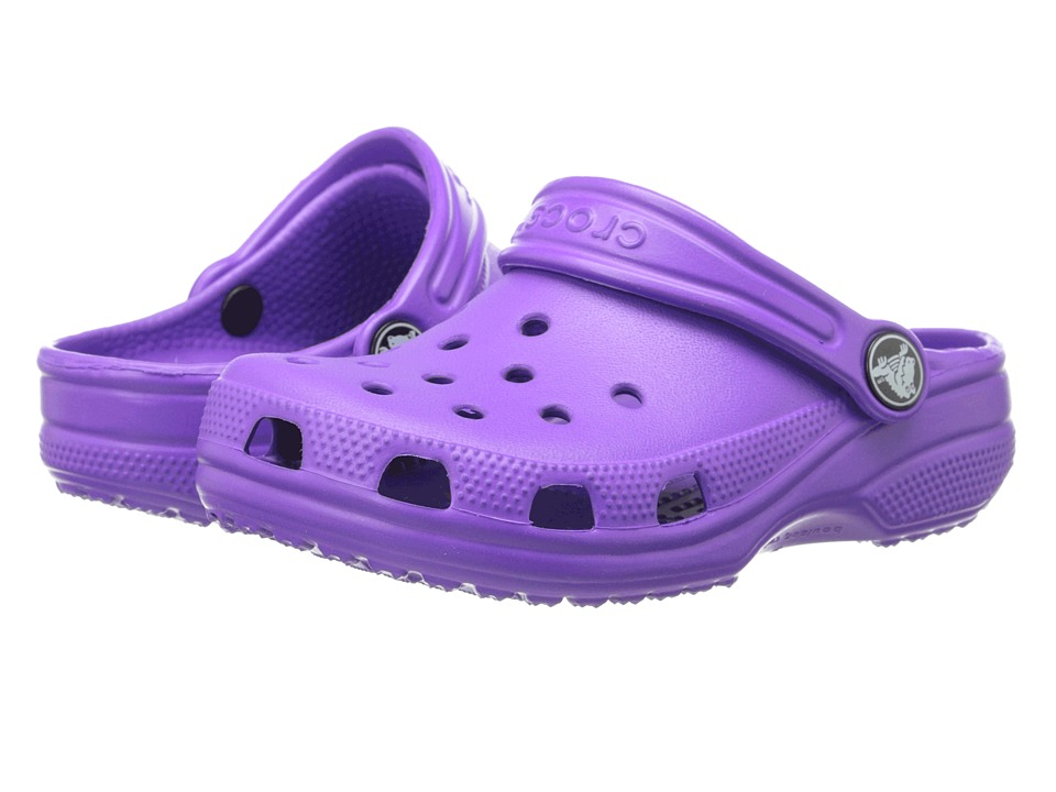 Crocs Kids - Classic (Toddler/Little Kid/Big Kid) (Neon Purple) Girls Shoes