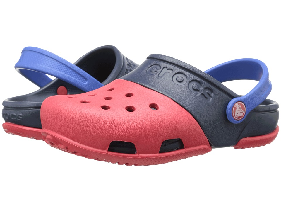 Crocs Kids - Electro II Clog (Toddler/Little Kid) (Red/Navy) Kids Shoes