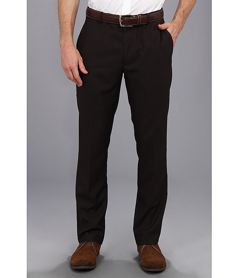 Perry Ellis - Slim Solid Text Pant (Black) Men
