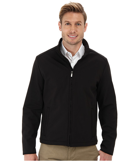 Perry Ellis - Bonded Fleece Jacket (Black) Men's Coat