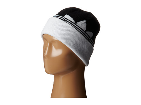 adidas Skateboarding - Switch Stripe Fold Beanie (Black/White) Beanies