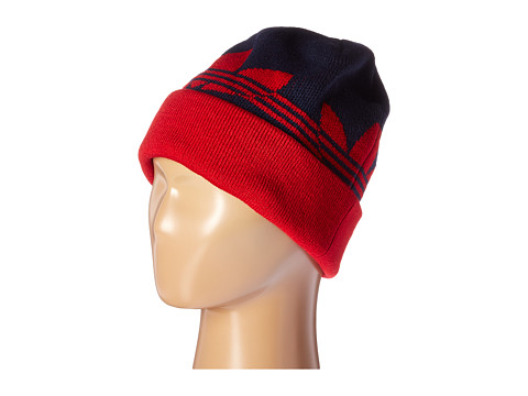 adidas Skateboarding - Switch Stripe Fold Beanie (Collegiate Navy/Power Red) Beanies