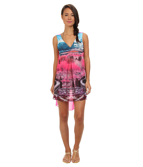 Ted Baker - Aerlyn Road To Nowhere Pleat Cover Up (Mid Pink) Women