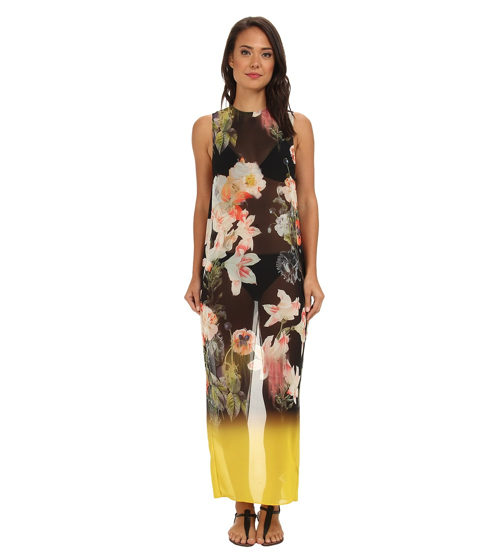 Ted Baker - Missah Opulent Bloom Maxi Cover Up (Black) Women's Swimwear