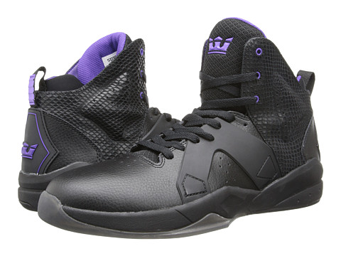 Supra - Magazine (Black/Purple/Black) Men's Skate Shoes