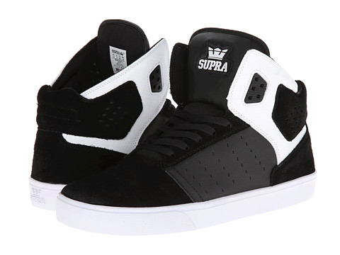 Supra - Atom (Black/White/White) Men's Skate Shoes