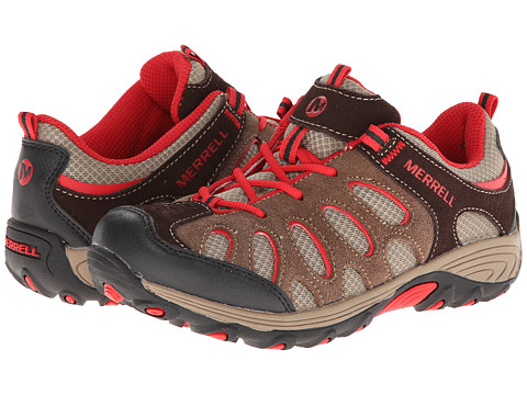 Merrell Kids - Chameleon Low Lace (Little Kid) (Brown/Red) Boys Shoes
