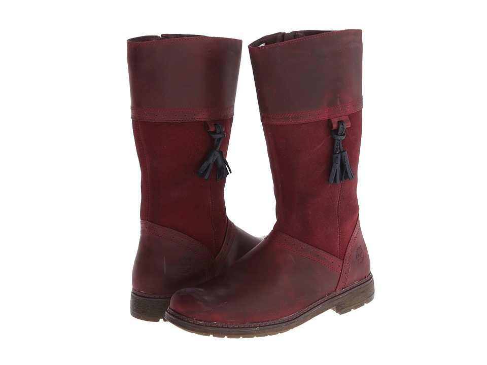 Timberland Kids - Earthkeepers Amesbury Tall Boot (Big Kid) (Burgundy) Girls Shoes