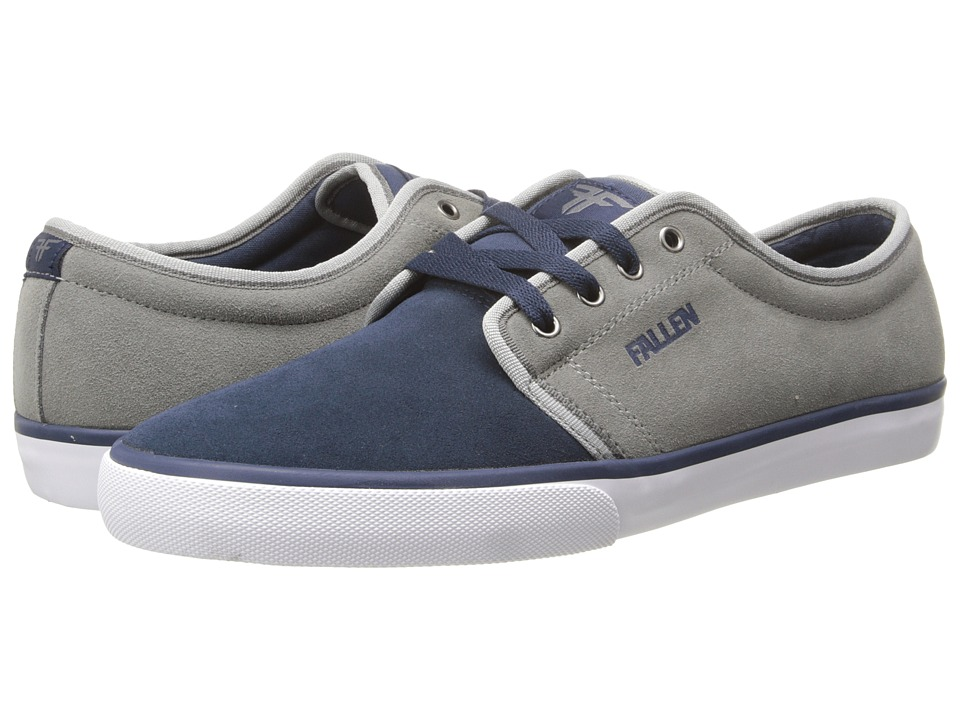 Fallen - Forte 2 (Midnight Blue/Cement Grey) Men's Skate Shoes
