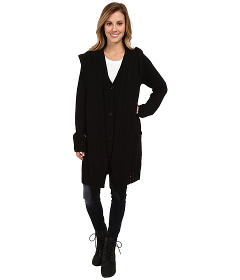 ExOfficio - Floriana Convertible Cardigan (Black) Women's Sweater