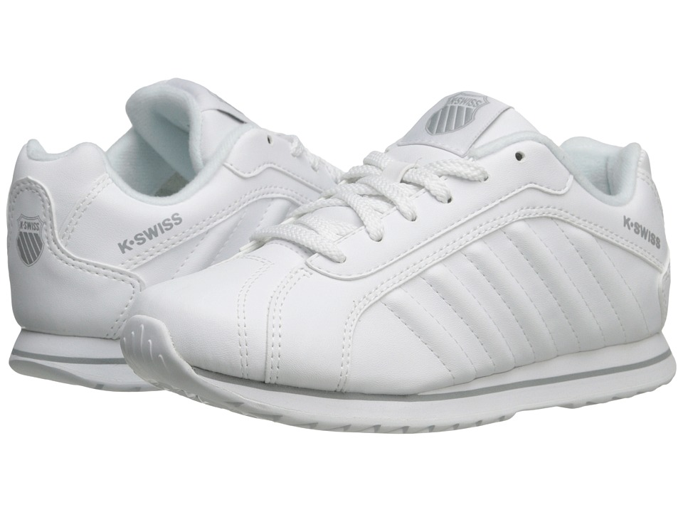 K-Swiss Kids - Verstad III S (Little Kid) (White/Storm) Kids Shoes