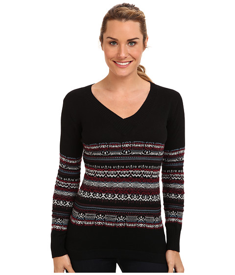 ExOfficio - Cafenista Jacquard Sweater (Black) Women
