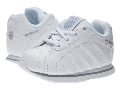 K-Swiss Kids - Verstad III S (Infant/Toddler) (White/Storm) Kids Shoes