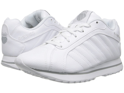 K-Swiss Kids - Verstad III S (Big Kid) (White/Storm) Kids Shoes