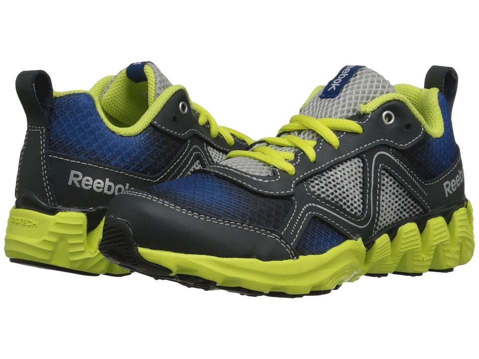 Reebok Kids - Zigkick Wild (Little Kid) (Impact Blue/Steel/High Vis Green/Gravel/Silver Metallic) Boys Shoes