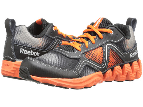 Reebok Kids - Zigkick Wild (Little Kid) (Flat Grey/Flux Orange/Black/Silver Metallic) Boys Shoes