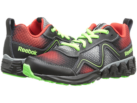 Reebok Kids - Zigkick Wild (Little Kid) (China Red/Flat Grey/Black/Solar Green) Boys Shoes