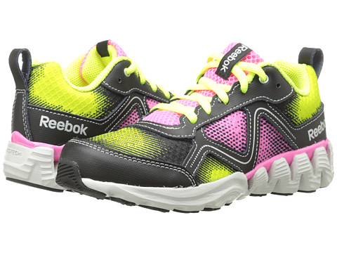 Reebok Kids - Zigkick Wild (Little Kid) (Solar Yellow/Electro Pink/Black/Silver Metallic/Steel) Girls Shoes