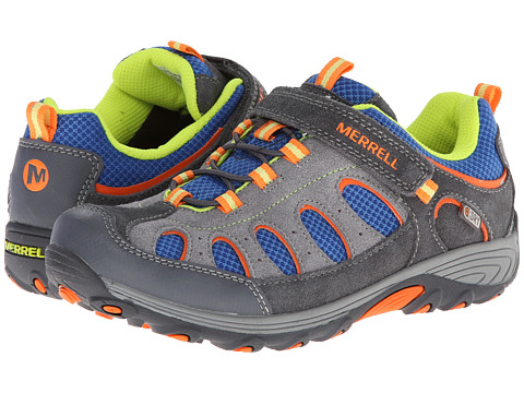 Merrell Kids - Chameleon Low A/C Waterproof (Big Kid) (Grey/Blue) Boys Shoes