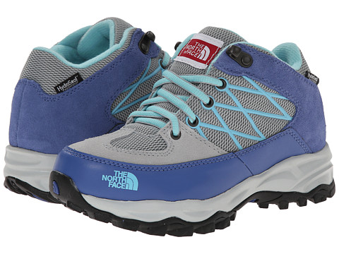 The North Face Kids - Storm Waterproof (Toddler/Little Kid/Big Kid) (High Rise Grey/Dutch Blue) Girls Shoes