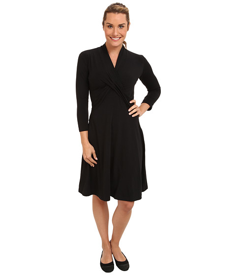 ExOfficio - Go-To CrossOver Dress (Black) Women's Dress
