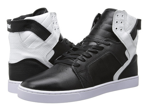 Supra - Skytop LX (Black/White/White) Men's Skate Shoes