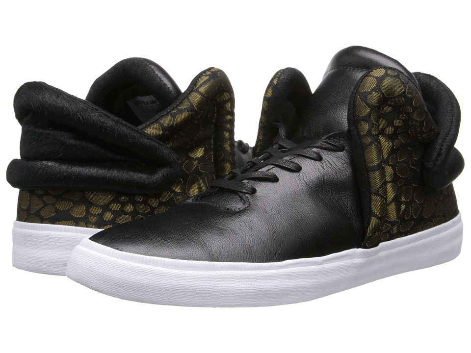 Supra - Falcon (Black/Gold/White) Men's Skate Shoes