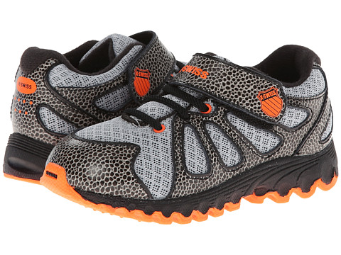 K-Swiss Kids - Tubes 130 Strap Mesh (Infant/Toddler) (Storm/Black/Safety Orange) Boys Shoes