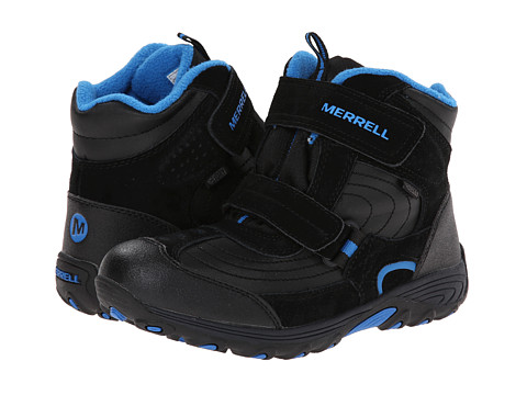 Merrell Kids - Moab Polar Mid Strap 2.0 Waterproof (Big Kid) (Black) Boys Shoes