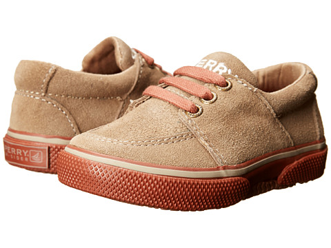 Sperry Top-Sider Kids - Voyager (Toddler/Little Kid) (Khaki/Brick Suede) Boys Shoes