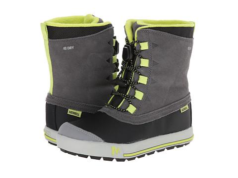 Merrell Kids - Snow Bank Waterproof (Little Kid/Big Kid) (Grey/Line) Boys Shoes