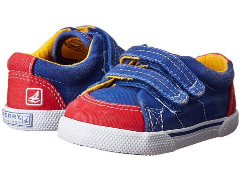 Sperry Top-Sider Kids - Halyard HL Crib (Infant/Toddler) (Blue/Red Canvas) Boys Shoes