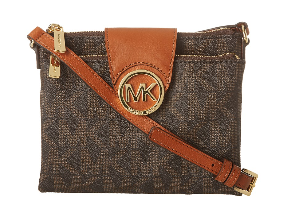 MICHAEL Michael Kors - Fulton Large Crossbody (Brown) Cross Body Handbags