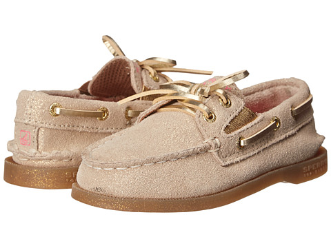Sperry Top-Sider Kids - A/O Slip On (Toddler/Little Kids) (Gold Leather) Girls Shoes