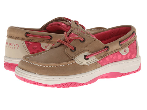 Sperry Top-Sider Kids - Bluefish (Little Kid/Big Kid) (Linen/Pink Leather) Girls Shoes