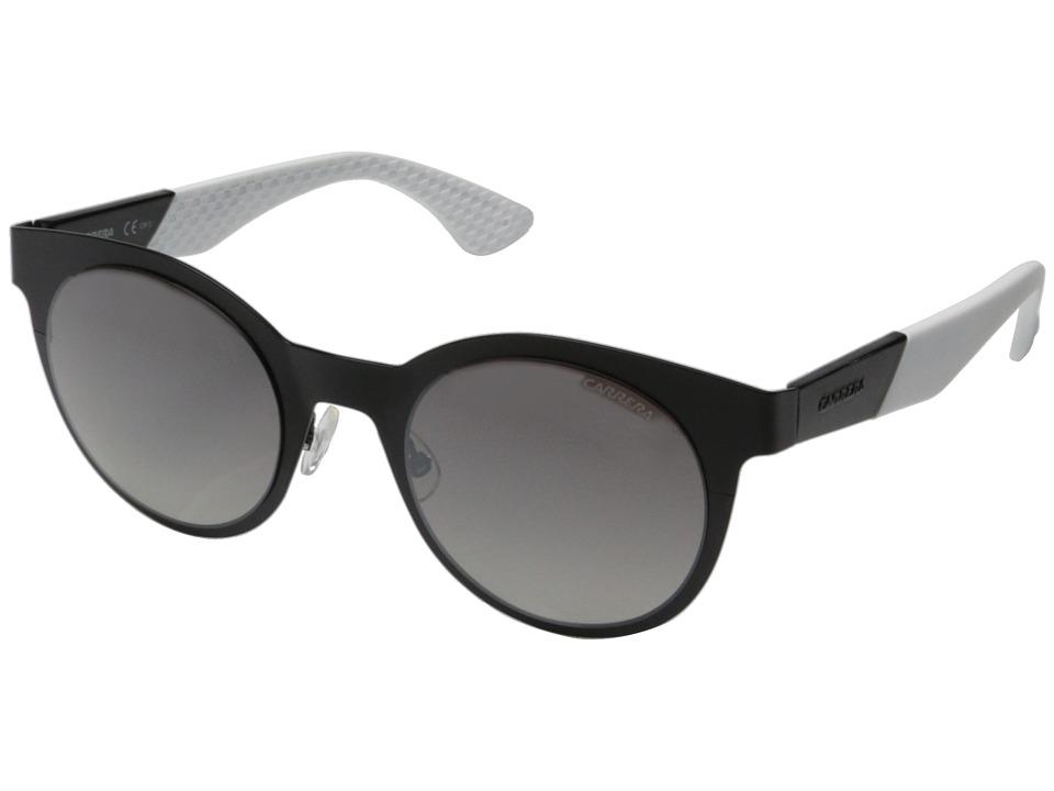 Carrera - Carrera 5012/S (Matte Black/Gray Mirror Gradient Silver) Fashion Sunglasses