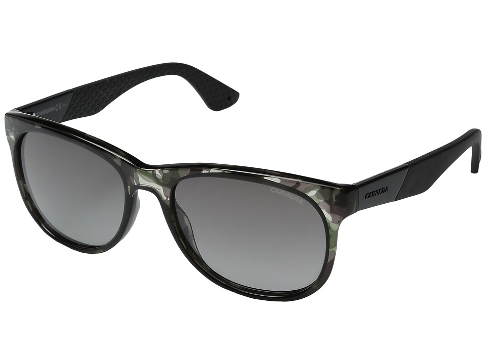 Carrera - Carrera 5010/S (Camo Black Gray/Gray Mirror Gradient Silver) Fashion Sunglasses