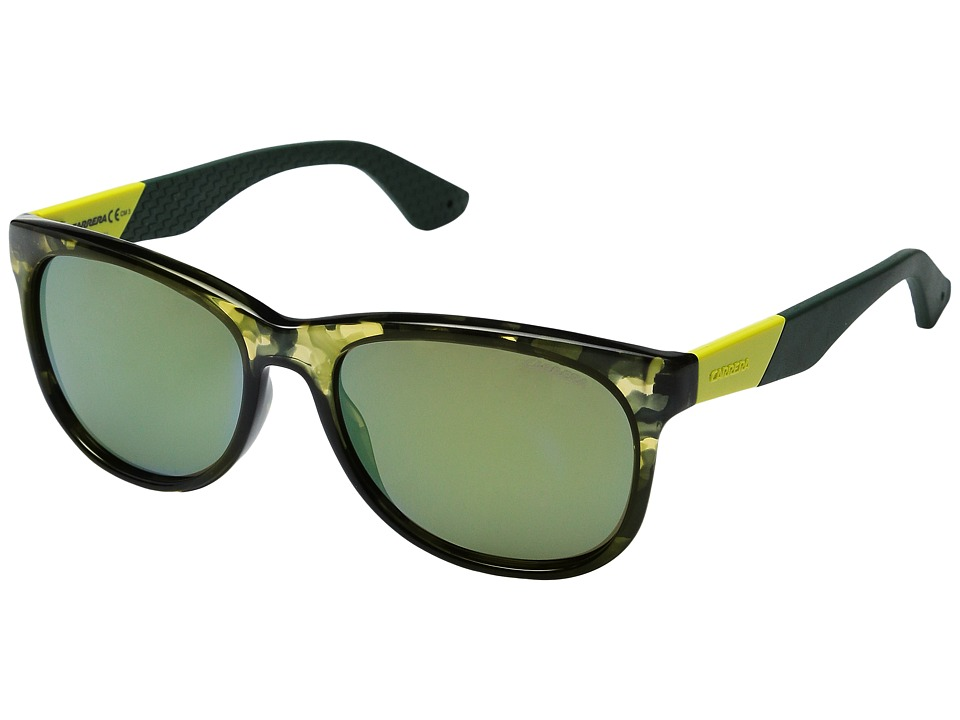 Carrera - Carrera 5010/S (Camo Green/Yellow Mirror) Fashion Sunglasses