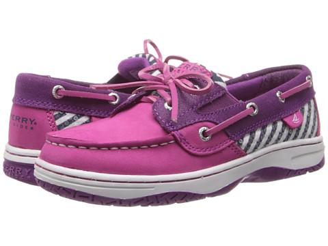 Sperry Top-Sider Kids - Butterflyfish (Little Kid/Big Kid) (Fuchsia/Berry/Navy Stripe Leather) Girl