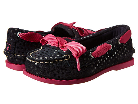 Sperry Top-Sider Kids - Audrey (Toddler/Little Kid) (Navy Dots/Pink Leather) Girls Shoes
