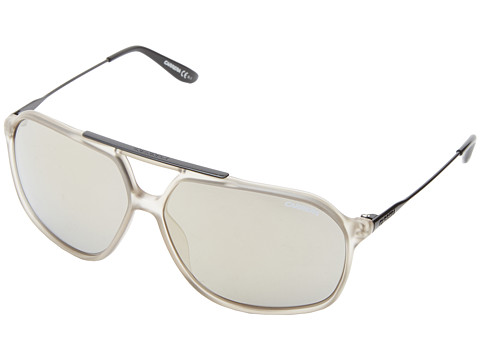 Carrera - Carrera 81/S (Light Gray/Gray Ivory Mirror) Plastic Frame Fashion Sunglasses