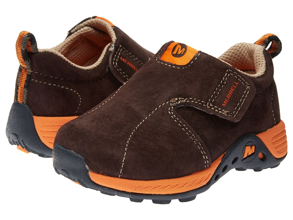 Merrell Kids - Jungle Moc Sport Jr. (Toddler) (Brown/Orange) Boy's Shoes