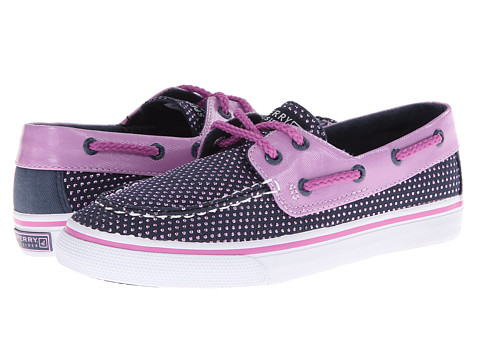 Sperry Top-Sider Kids - Bahama (Little Kid/Big Kid) (Navy/Purple Dot Canvas) Girls Shoes