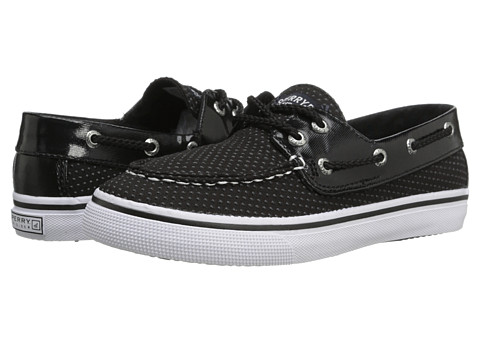 Sperry Top-Sider Kids - Bahama (Little Kid/Big Kid) (Black/Black Dot) Girls Shoes